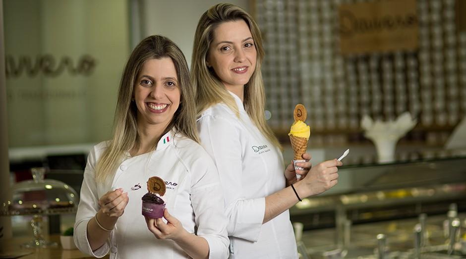 Debora Tesoto e Suelen Ferrari, fundadoras da Davvero Gelato. (Foto: Divulgação)