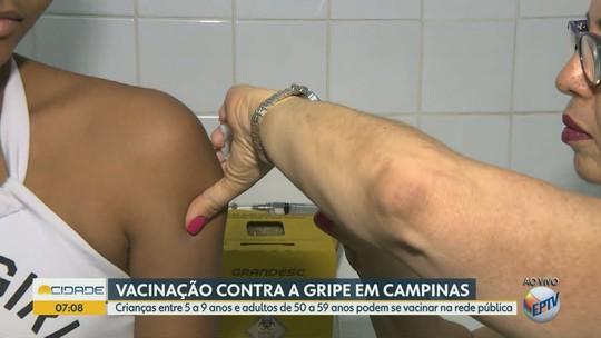 Vacinação contra gripe é ampliada a adultos e crianças até 9 anos nas maiores cidades da região de Campinas
