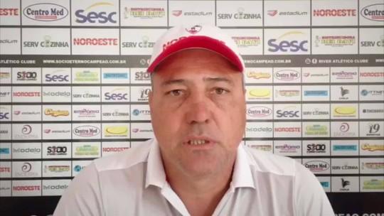 """Técnico do River-PI analisa o Bahia, rival na Copa do Brasil 2020: """"Temos condições de igualar""""; veja"""