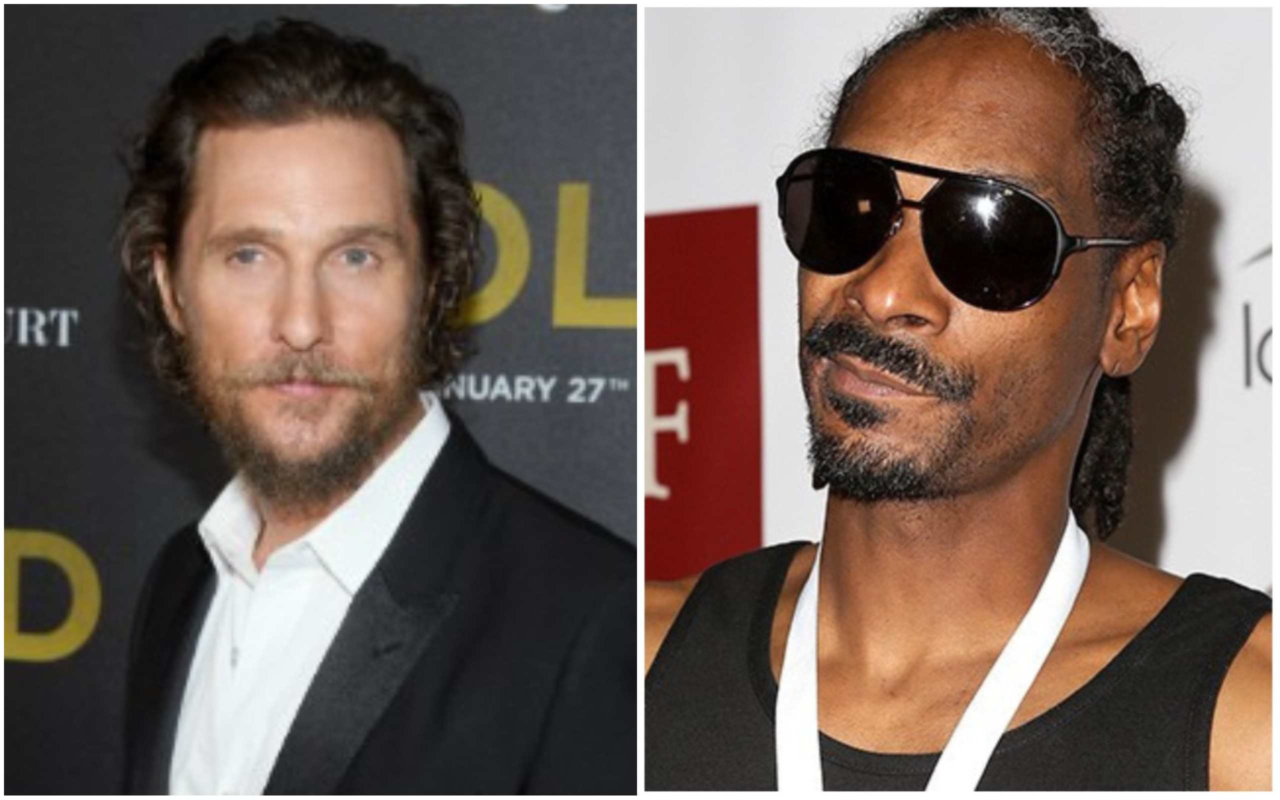 Matthew McConaughey e Snoop Dogg (Foto: Getty Images)