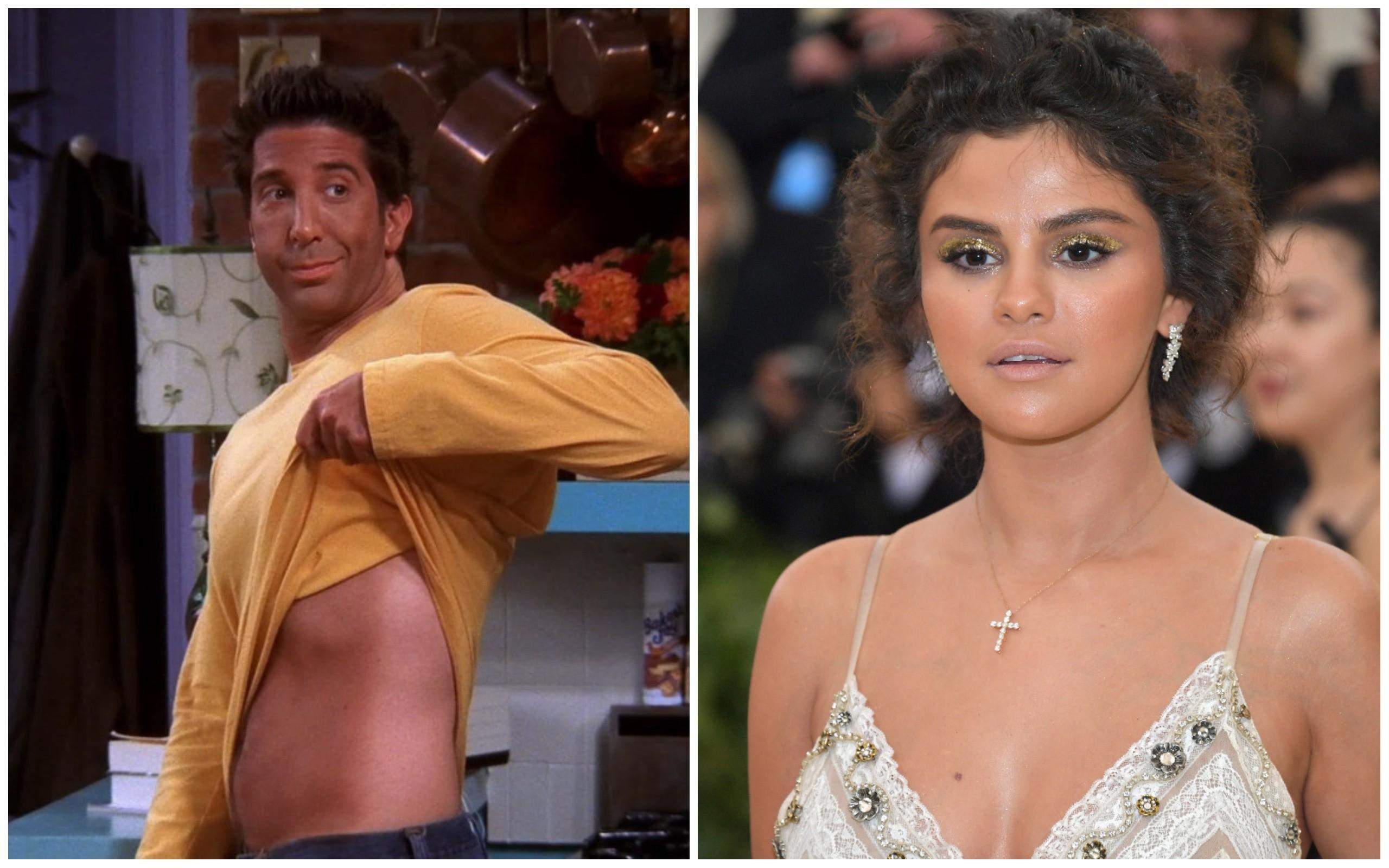 Ross (Friends) e Selena Gomez (Foto: Getty Images / Reprodução)