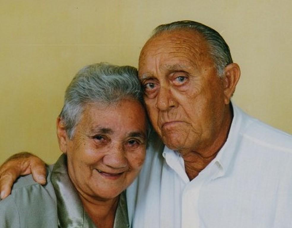 Terezinha Pinheiro faleceu em 2011 e Tarcísio de Moura em 2014 (Foto: Arquivo Pessoal )