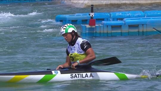 Mundial Slalom: Ana Sátila erra na final, chora e acaba fora do pódio no C1 em Deodoro