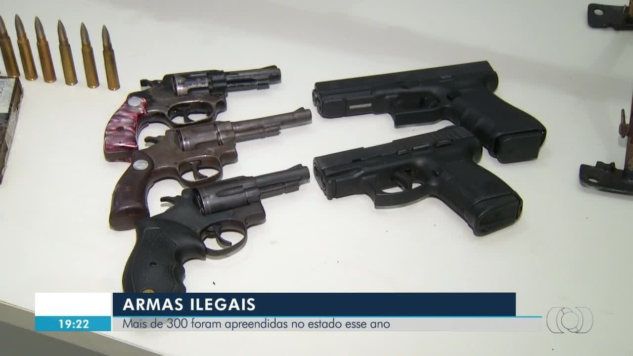 Mais de 300 armas ilegais foram apreendidas em 2018 no Tocantins