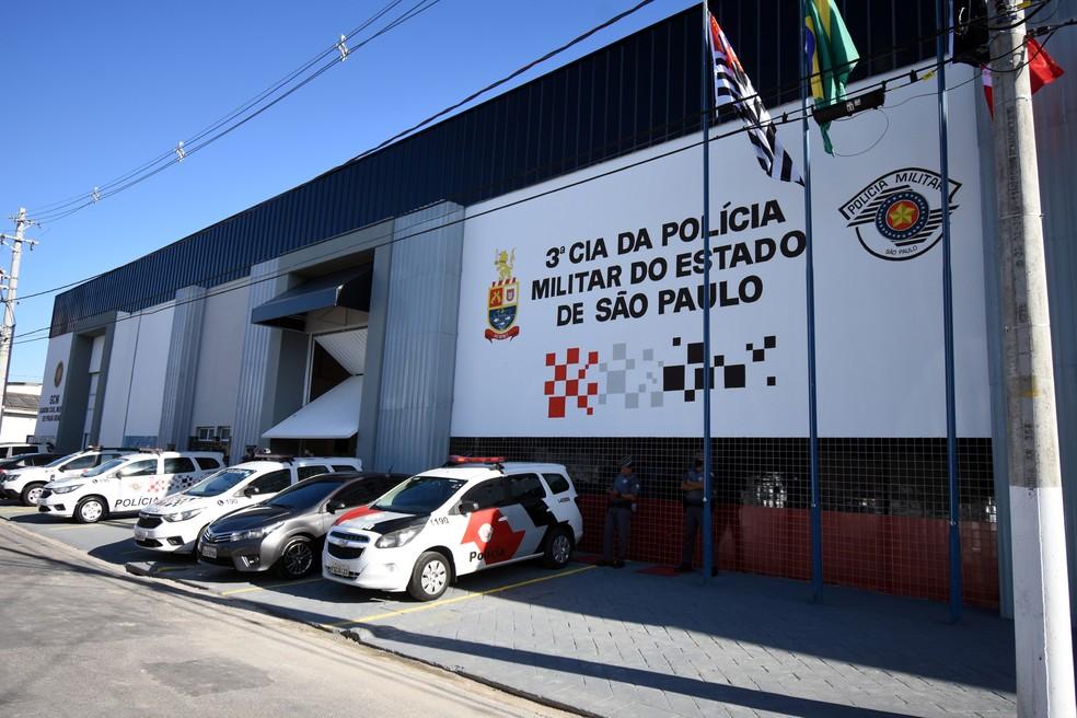 Praia Grande inaugura sede da da 3ª Companhia da Polícia Militar — Foto: Divulgação/Prefeitura de Praia Grande