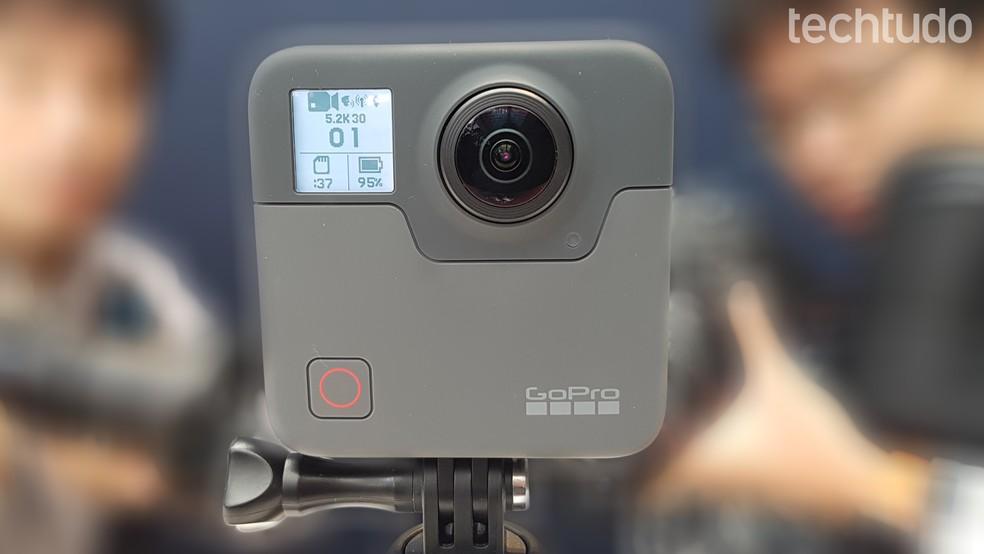 GoPro Fusion permite captar imagens em 360º em altíssima definição (Foto: Viviane Werneck/TechTudo)