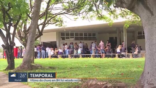 Abalados, parentes e amigos se despedem de jovem arrastada por enxurrada em Belo Horizonte
