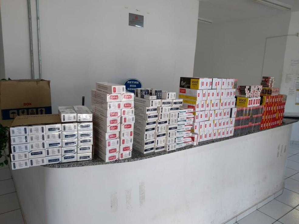 Guarda Civil Municipal apreende mais de 2 mil maços de cigarros em Mogi Mirim — Foto: Divulgação/Guarda Civil Municipal
