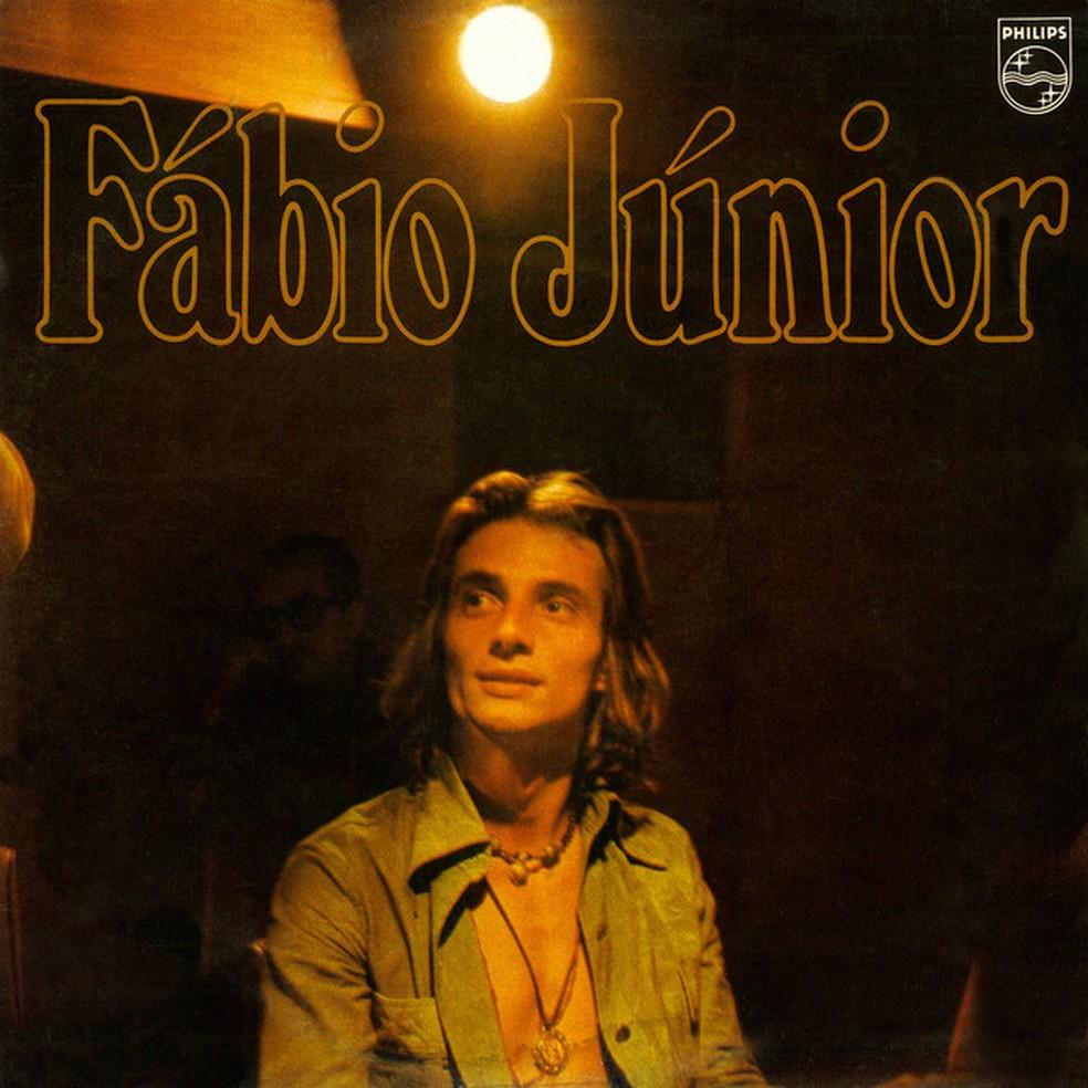 Capa do álbum 'Fábio Júnior', de 1976 (Foto: Divulgação)