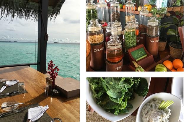 Café da manhã com bar de superfoods do One&Only Reethi Rah (Foto: Luiza Souza)