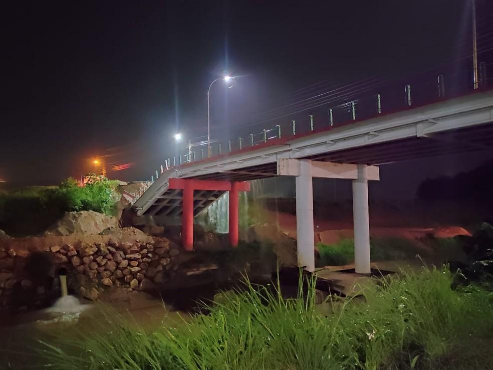 Cabeceira de ponte cede em Brusque — Foto: Prefeitura de Brusque/Divulgação