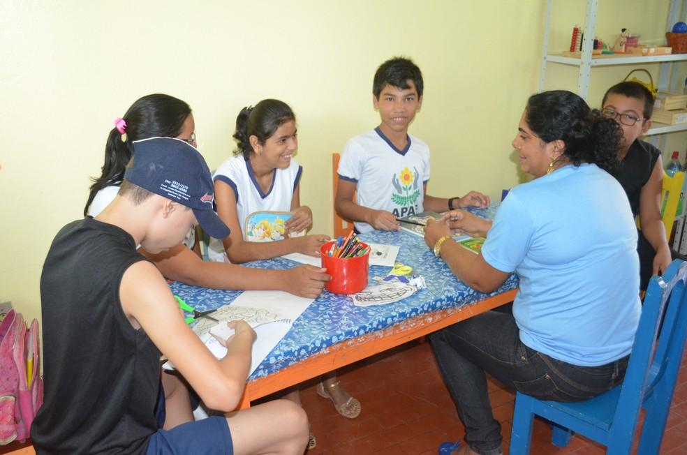 A Apae em Santarém atende, atualmente, 289 alunos (Foto: Geovane Brito/G1)