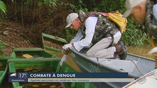 Agentes percorrem Rio Verde em São Lourenço no combate à dengue