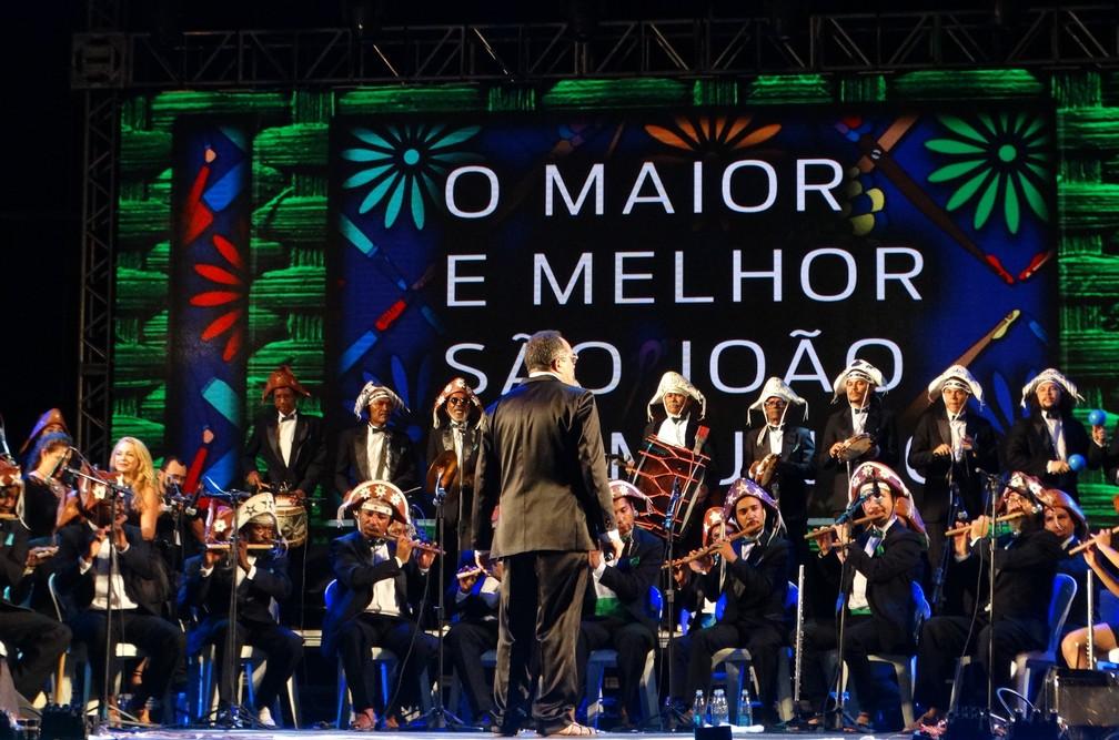 Orquestra de Pífanos abriu o São João de Caruaru (Foto: Lafaete Vaz/G1)