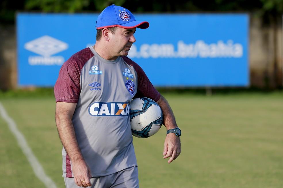 Enderson Moreira em treino do Bahia (Foto: Felipe Oliveira / Divulgação / E. C. Bahia)