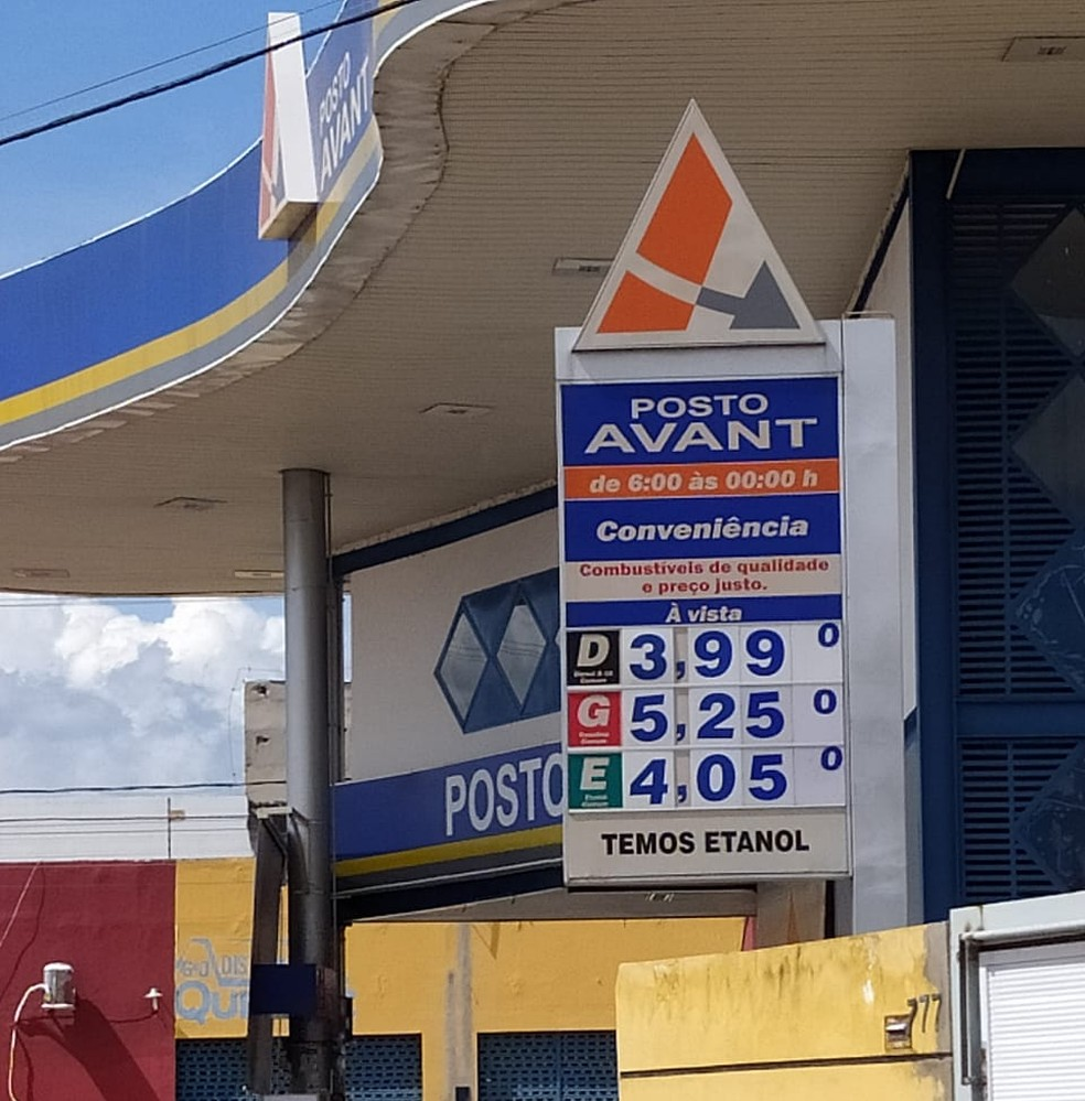 Diesel também sofreu aumento nos postos — Foto: Andrê Nascimento /G1