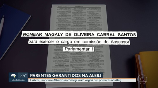 Cabral, Picciani e Albertassi conseguem vagas para parentes na Alerj