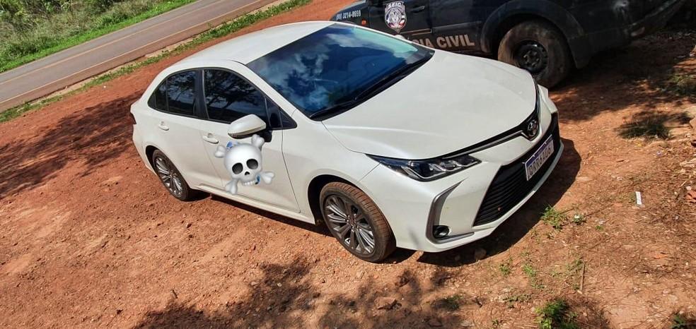 A quantia foi apreendida dentro de um veículo. — Foto: Divulgação/Polícia Civil