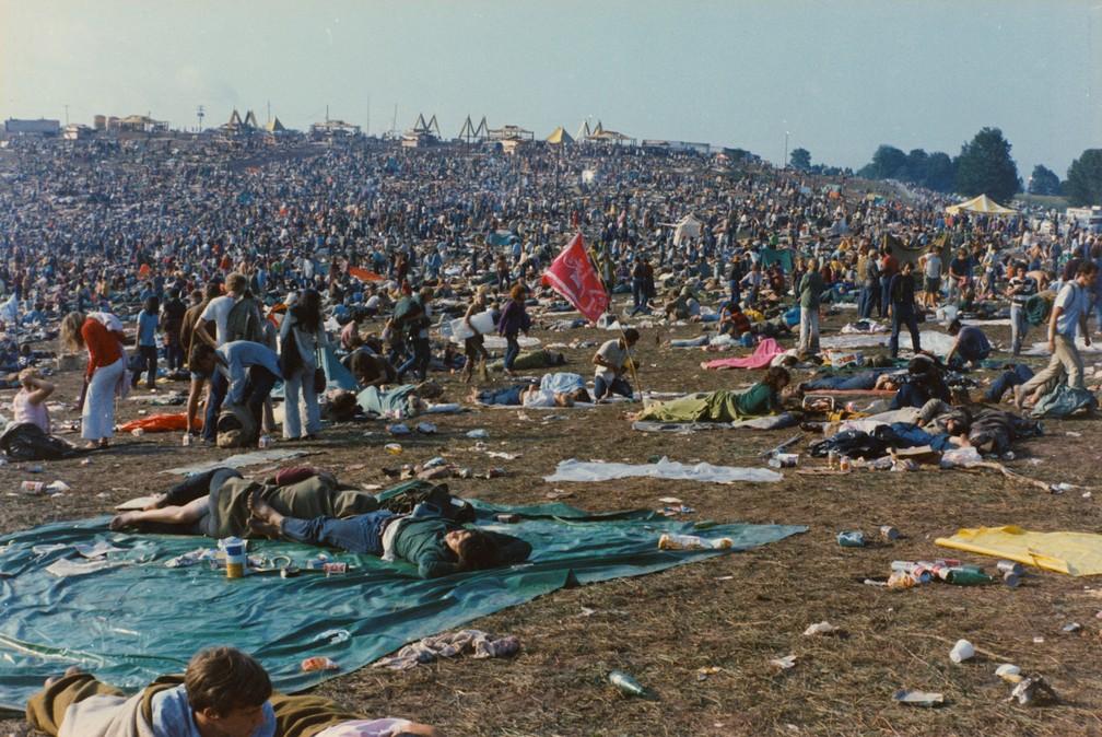Festival de Woodstock em agosto de 1969 — Foto: The Museum at Bethel Woods/Reuters