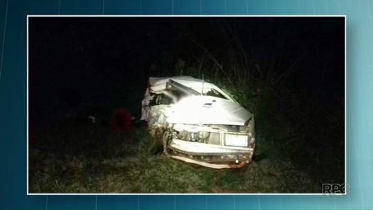 Duas pessoas morrem e três ficam feridas em acidente na BR-376, em Guairaçá