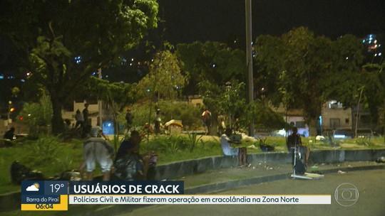 Polícia faz operação em cracolândia do Maracanã, mas poucas horas depois usuários voltam para as ruas