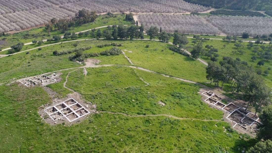 Sítio arqueológico que pesquisadores dizem conter ruínas da cidade bíblica de Ziklag  (Foto: Autoridade de Antiguidades de Israel)