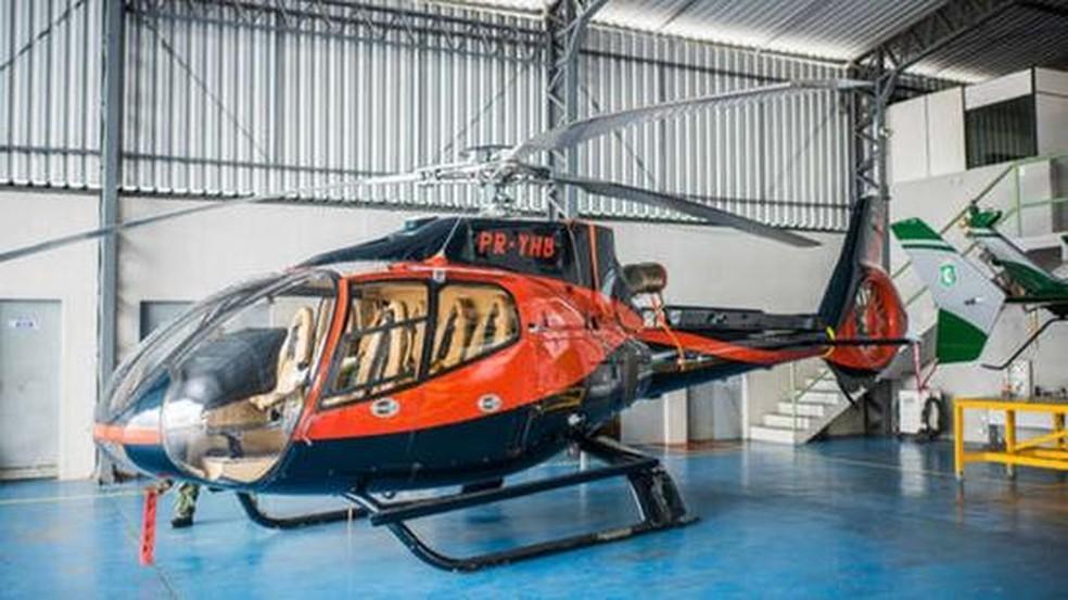 Helicóptero usado na operação que assassinou 'Gegê do Mangue' e 'Paca' — Foto: Divulgação