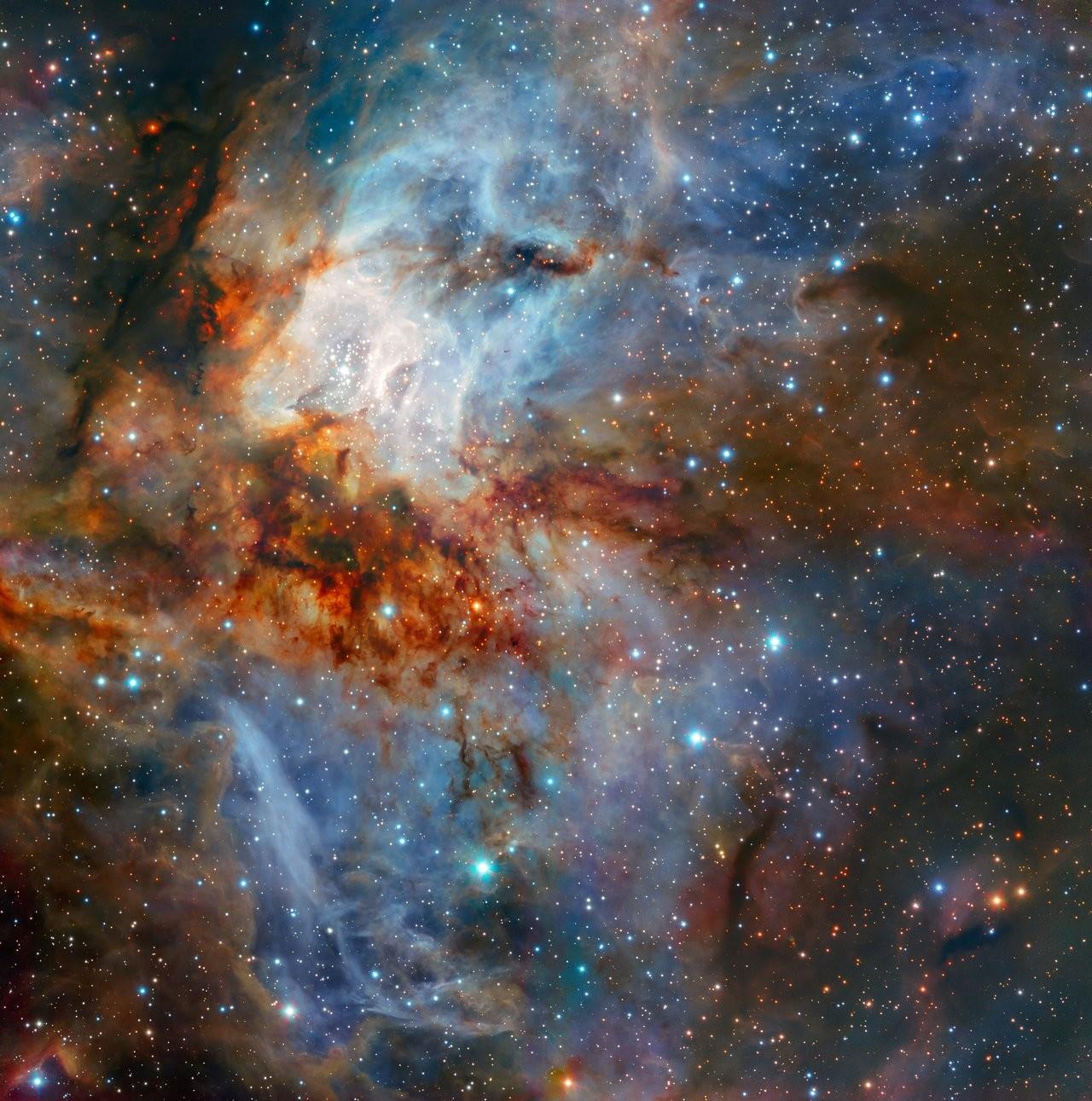 Aglomerado RCW 38 (Foto: ESO)