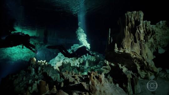 Mergulhadores descobrem mais de 350 cavernas na Península de Iucatã, no México