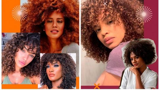 Franja em cabelos cacheados e crespos: veja dica fácil das atrizes de como cuidar do visual