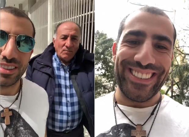 Kaysar Dadour e o pai, George (Foto: Reprodução / Instagram)