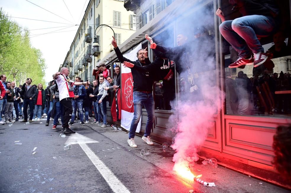 Ajax x Juventus — Foto: REUTERS/Massimo Pinca