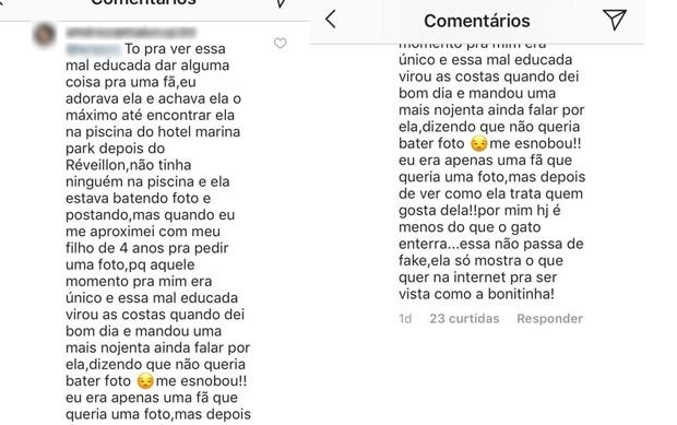 Comentário de fã sobre Marília Mendonça (Foto: Reprodução/Instagram)