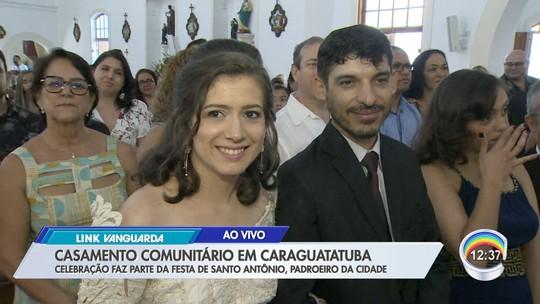 Caraguatatuba tem casamento coletivo durante festa em homenagem a Santo Antônio