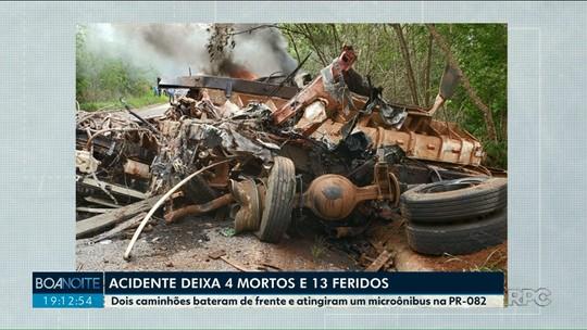 Quatro pessoas morrem e 13 ficam feridas em acidente perto de Rondon