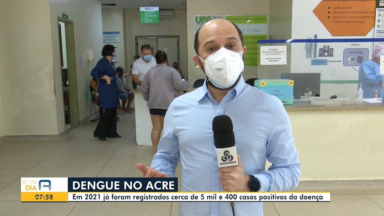 Acre tem mais de 5,3 mil casos confirmados de dengue e 12,4 mil suspeitos em 3 meses