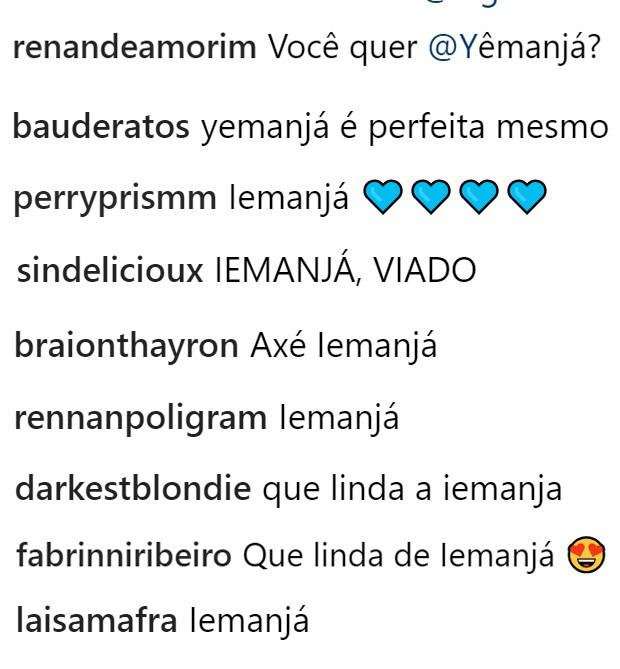Lady Gaga é chamada de Yemanjá (Foto: Reprodução/Instagram)