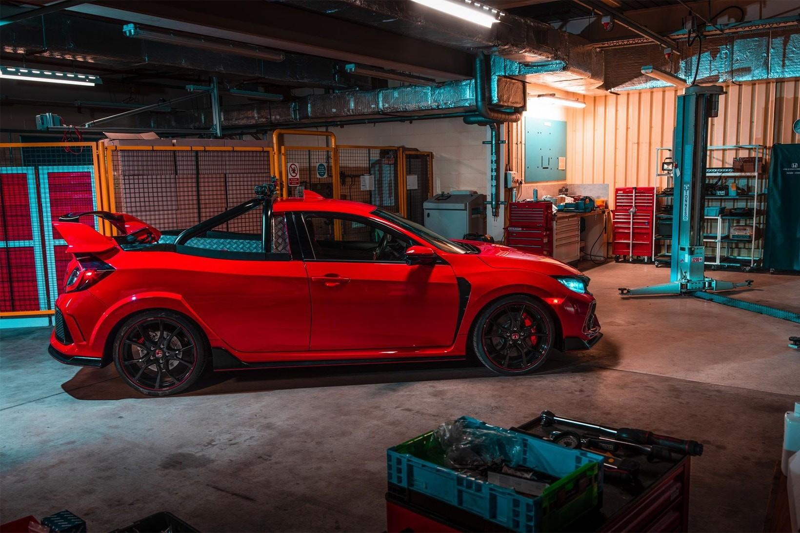 O Honda Civic Type R picape (Foto: Divulgação)
