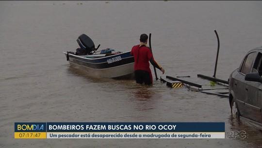 Corpo de Bombeiros procura pescador que caiu dentro de rio na região de Foz do Iguaçu