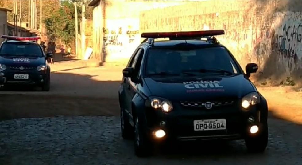 Operação contou com a participação de policiais de várias delegacias — Foto: Polícia Civil/Divulgação