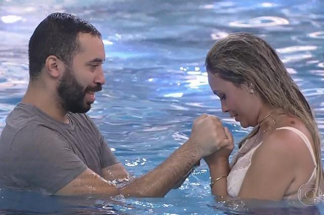 Gilberto e Sarah no 'BBB' 21 (Foto: Reprodução)