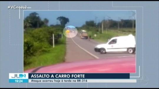 Quadrilha fortemente armada explode carro-forte no Pará