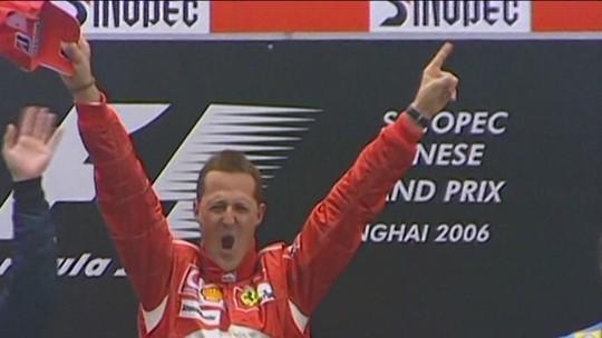 Reginaldo Leme relembra última vitória de Michael Schumacher, na China