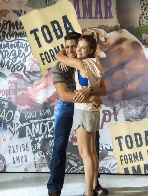 Julio Machado e Caroline Dallarosa (Foto: Estevam Avellar/TV Globo )