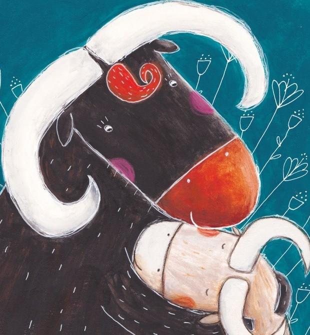 O búfalo que só queria ficar abraçado (Foto: Reprodução/Facebook)