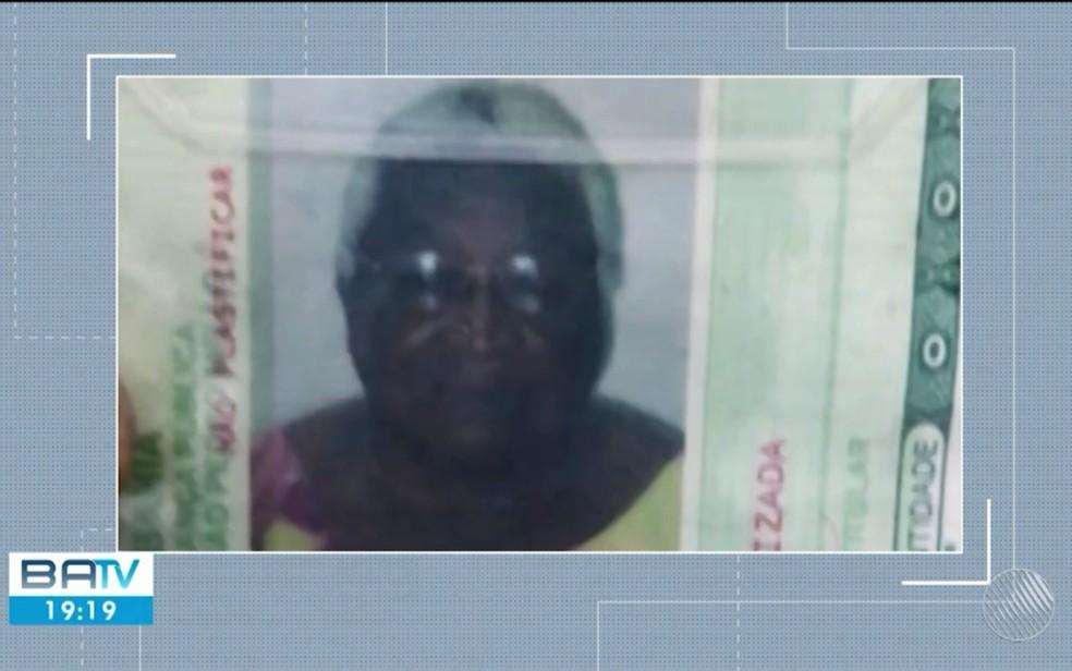 Idosa de 87 ano foi morta a facadas no dia 16 de agosto (Foto: TV Bahia)