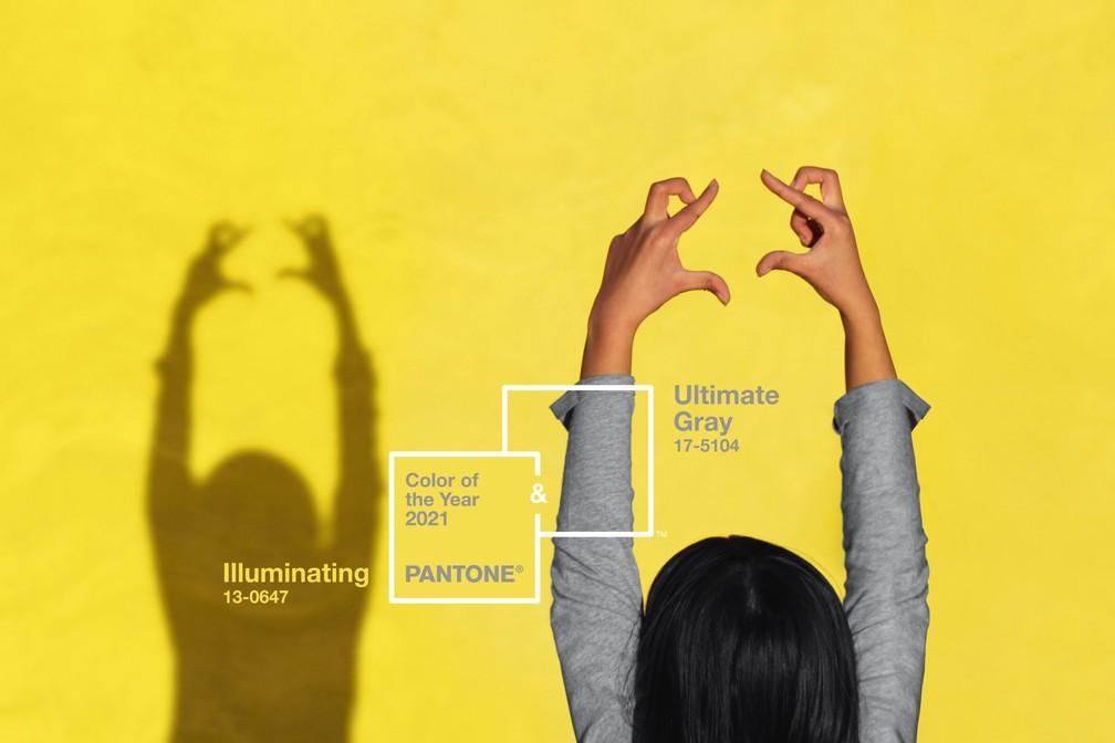 Pantone anuncia cinza 'ultimate gray' e amarelo 'illuminating' como cores de 2021 — Foto: Divulgação/Pantone