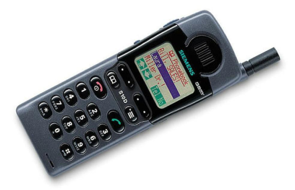 Siemens S10 foi o primeiro telefone com tela colorida — Foto: Reprodução/Celulares.com