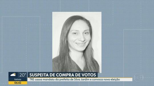 TRE cassa mandato da prefeita de Silva Jardim por suspeita de compra de votos