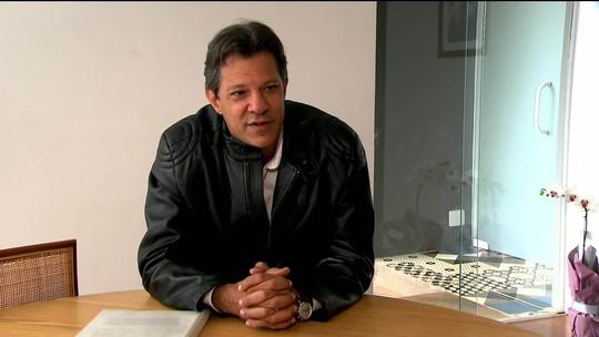 'Estava muito sentido com mais uma fake news e só cumprimentei Bolsonaro quando meu coração se aquietou', diz Haddad